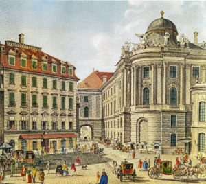 St. Michael's Square. classical and popular music in Vienna