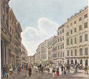 Vienna Kohlmarkt. classical and popular music in Vienna