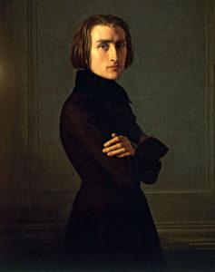 Franz Liszt / painting by Henri Lehmann, 1839