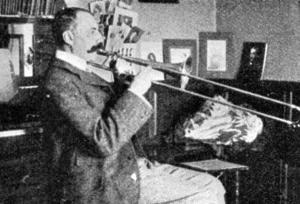 Elgar playing his trombone