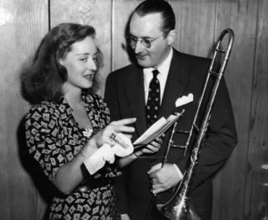 Tommy Dorsey and Bette Davis