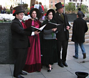 Carolers in Union Square, San Francisco