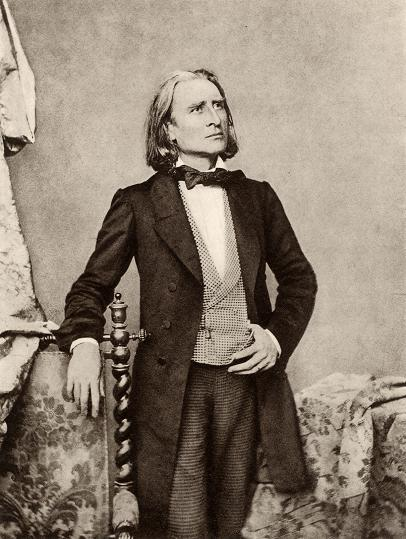 Franz Liszt photo, 1858 classical vs popular music