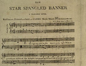 Star Spangled Banner sheet music