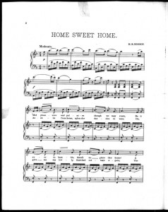 Home, Sweet Home 1st page