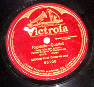 Rigoletto Quartet 78 label