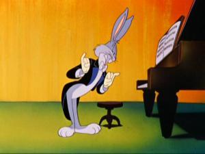 Bugs Bunny at piano