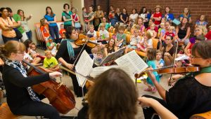 string quartet performance for children