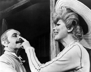 Carol Channing and David Burns in Hello Dolly!