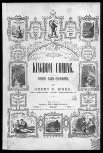 Kingdom Coming, by Henry Clay Work, 1863 cover