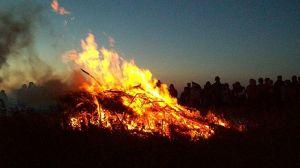 St. John's eve bonfire, night on bald mountain