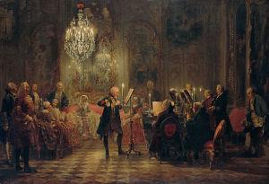 CPE Bach accompanying King Frederick