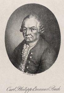 CPE Bach lithograph