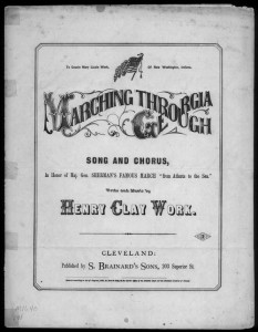 Marching through Georgia cover henry clay work