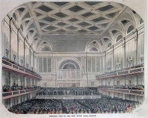 Boston Music Hall, 1852