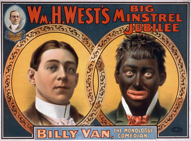 Minstrel show poster. earliest jazz recordings