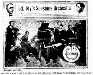 Kid Ory's Sunshine Orchestra record cover