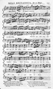 18th century sheet music.. popular music industry