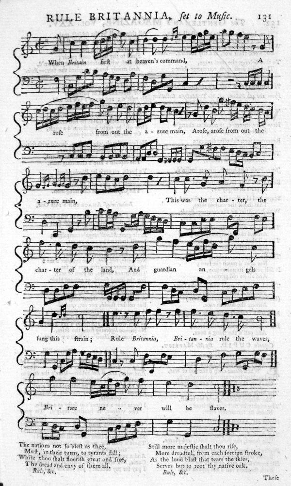 18th century sheet music.. popular music industry