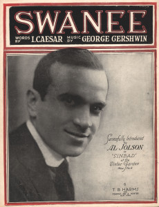 Swanee by Gershwin. Tin pan alley cover