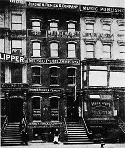 Buildings of Tin Pan Alley, 1910