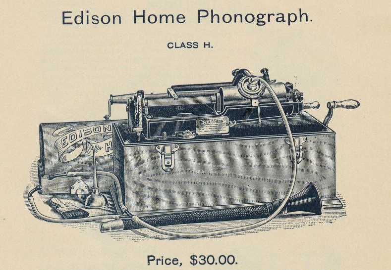 Edison home phonograph, history of recording music industry