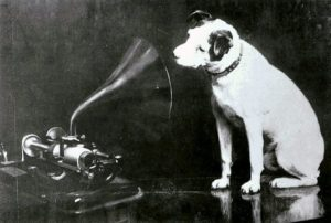 His Master's Voice. history of phonograph, recording music industry
