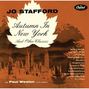 record cover, Autumn in New York by Vernon Duke