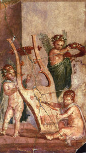 Fresco from Herculaneum. history of the trombone