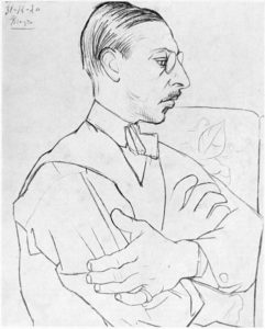 Igor Stravinsky by Picasso. A soldier's tale program notes
