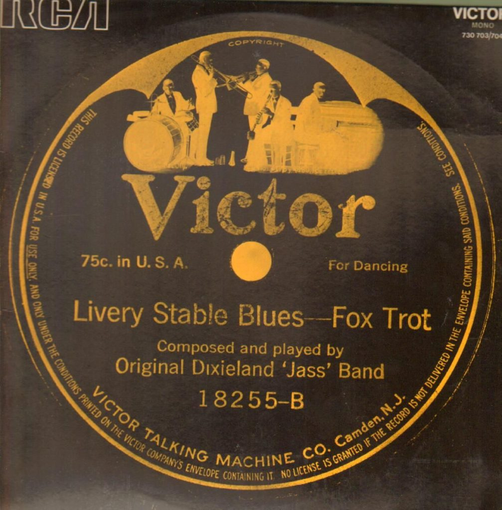 livery stable blues label. earliest jazz recordings