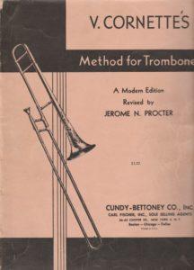 Victor Cornette trombone method Procter