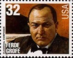 Ferde Grofe on a stamp. Grand Canyon Suite