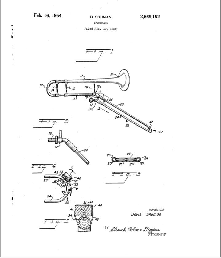 Davis Shuman patent drawing
