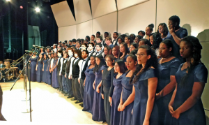 large high school choir. music education benefit