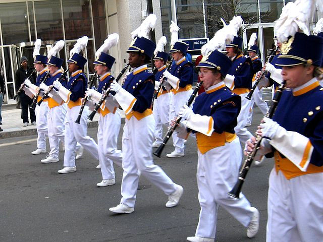 high school marching band. social benefits of music education