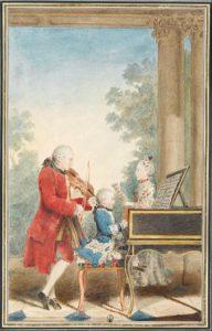 The Mozarts in Paris, ca. 1763 / Louis Carrogis Carmontelle