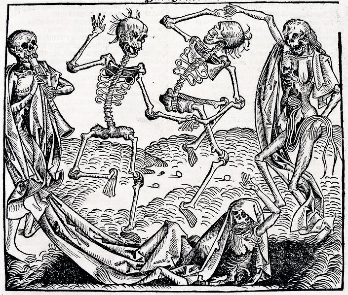 Danse macabre, Wolgemut woodcut Saint-Saëns