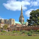 Chichester cathedral exterior. bernstein chichester psalms